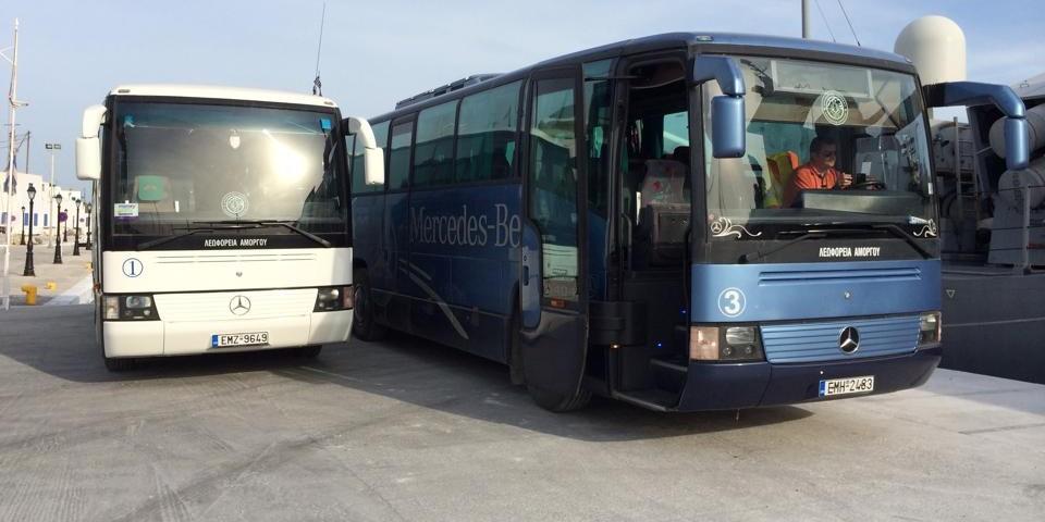 Λεωφορεία στην Αμοργό